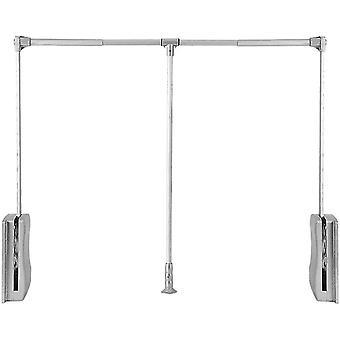 Clothes Valets Nisorpa Pull Down Wardrobe Hanging Rail Adjustable 890-1210 mm Wardrobe Lift Large