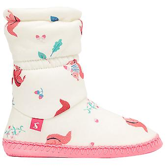 Joules Girls Jnr Padabout Slip On Printed Slippers