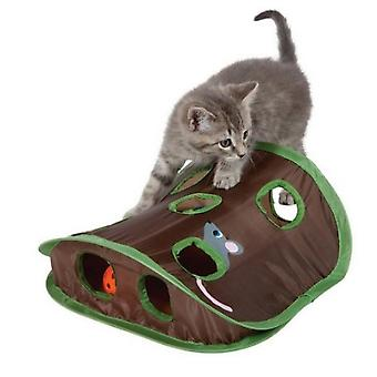 Pet Cat Micetoy Bell Tent With 9 Hole Cats Playing Tunnel Foldable