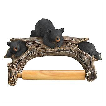 מבטא פלוס מחזיק נייר טואלט דוב שחור, חבילה של 1