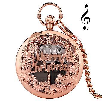 Серебряный музыкальный механизм Карманные часы