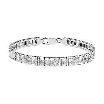 TJC ezüst Omega lánc karkötő nőknek Sterling bélyegzett ékszerek 7,5 ''