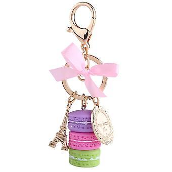 Colorful Cute Macaron Keychain, Macaron Charm Keychain, Bag Decoration (purple)