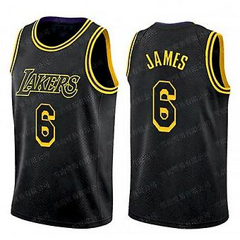 Men's Lebron James Cavaliers Lakers #23 #6 Basketball Jersey Outdoor Sports T-shirt Youth Basketball Uniform Size S-xxl