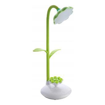 Schlafzimmer Desktop Einziehbare Faltbare Sonnenblume LED Ladelampe (grün)