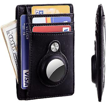 Slim Front Pocket Wallet With Built-in Case Holder For Airtag