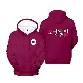 Ywy15 Squid Game Actor's Jacket Hooded Sweatshirt