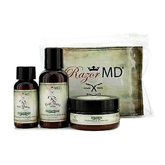 Razor Md Rx Shave Trio (mezcla de hierbas): Post Shave Lotion 60ml + Pre Shave Oil 30ml + Shave Cream 60ml - 3pcs