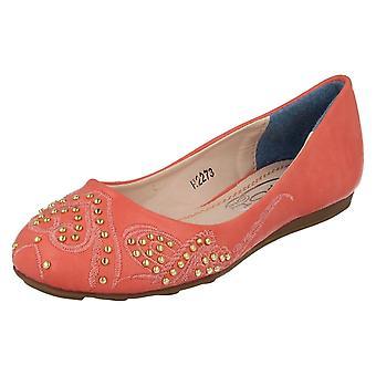 Ragazze posto sul piatto balletto stile scarpe H2273