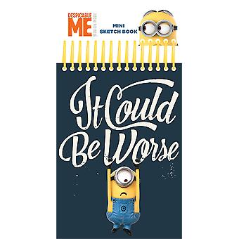 Despicable Me Minion Mini Sketch Book Stickers Felt Tip Pens Colouring Set