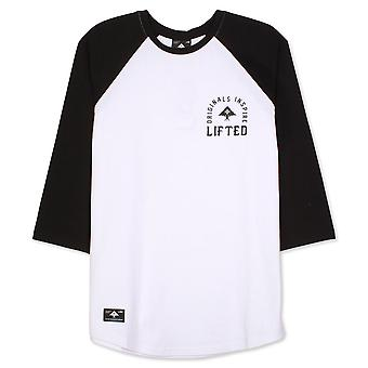 Lrg Inspired Three Quarter Sleeve Raglan T-Shirt Black