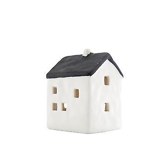 Licht-gloed klein huisje met LED, zwart