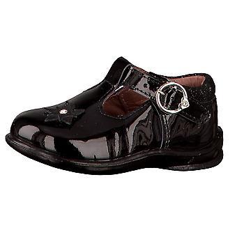 Ricosta Pepino Girls Winsy T-bar Shoes Black Patent