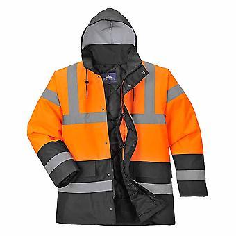 sUw Mens Hi-Vis Safety Zweiton-Verkehrsarbeitskleidung Jacke