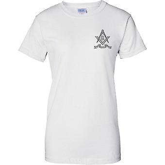 Fe esperanza caridad - emblema masónico - pecho damas diseño t-shirt