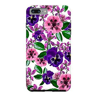 ArtsCase Designers casos branco Floral Garden para iPhone dura 8 Plus / iPhone 7 Plus