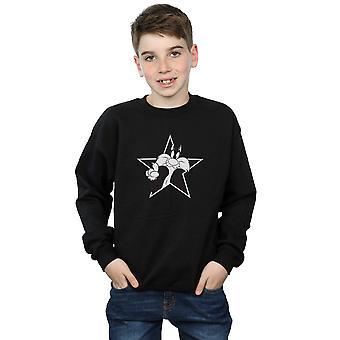 Looney Tunes jungen Sylvester Mono Sterne Sweatshirt