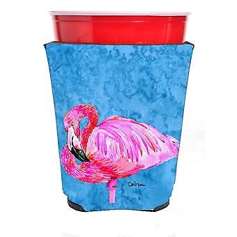 Carolines trésors 8686RSC Bird - Flamingo rouge coupe Solo boissons isolant Hu