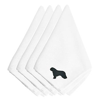 Carolines Treasures  BB3415NPKE Spanish Water Dog Embroidered Napkins Set of 4