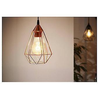 EGLO Tarbes Vintage geometriska koppar tak hänge