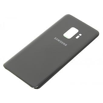För Samsung Galaxy S9 Plus tillbaka glas-svart