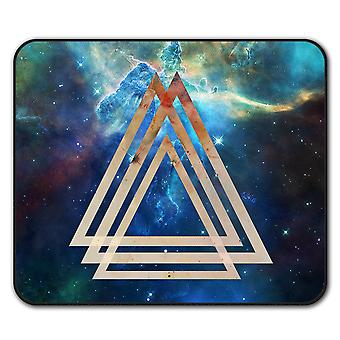Space Triangle  Non-Slip Mouse Mat Pad 24cm x 20cm | Wellcoda