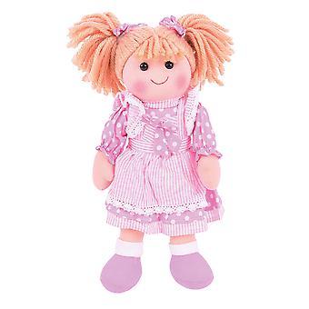 Bigjigs Toys doux en peluche Anna (34cm) poupée peluche Teddy