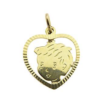 Golden Boys head pendant