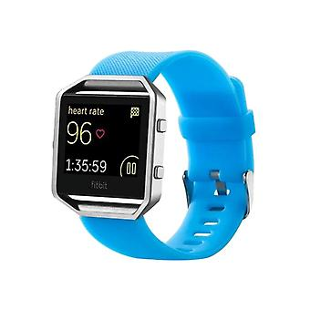 Plastic / silicone watch wristband for Fitbit blaze watch light blue accessories