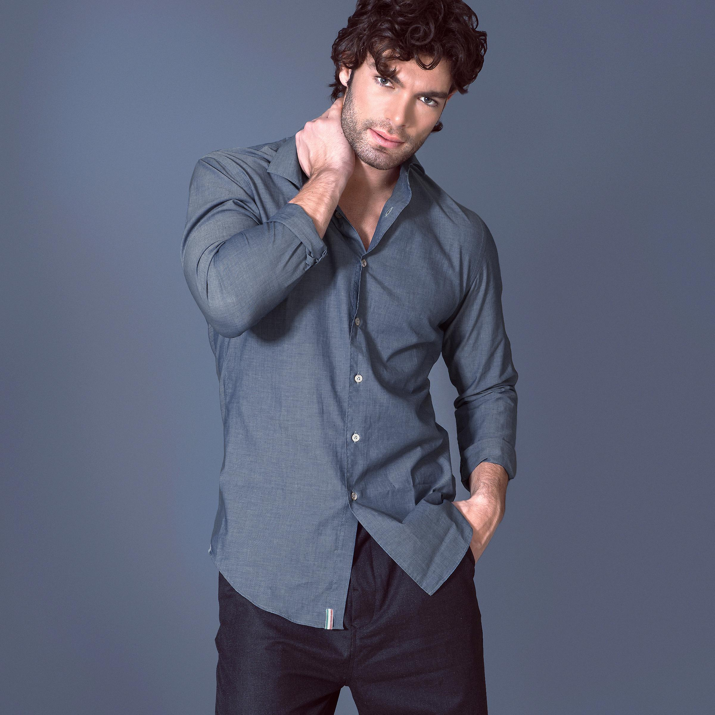 Fabio Giovanni Serrano Shirt - Mens High Quality Luxury Chambray Cotton Shirt
