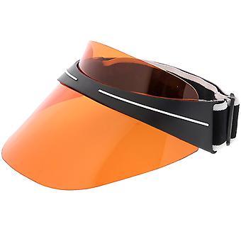 Oversize Shield Visor Hat Sunglasses Elastic Adjustable Strap 130mm