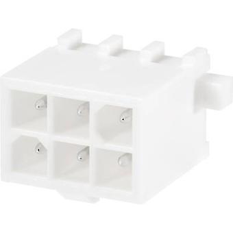 Invólucro de TE conectividade pino - número Total de PCB Mini-Universal-MATE-N-LOK de espaçamento de pinos 16 contato: 4,14 mm 1-794075-0 1 computador (es)