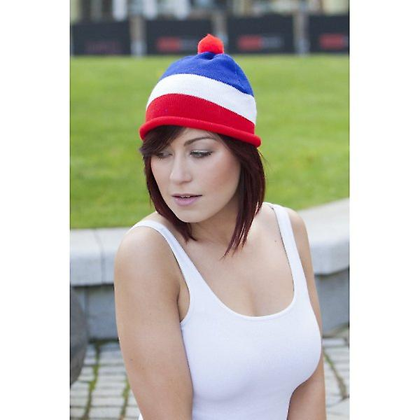 Union Jack Wear Red White And Blue Beanie Hat / Ski Hat