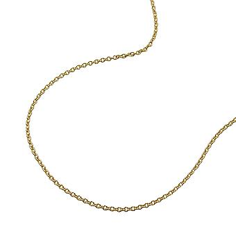short gold anchor chain for children necklace, 36 cm, thin chain, 9 KT GOLD 375