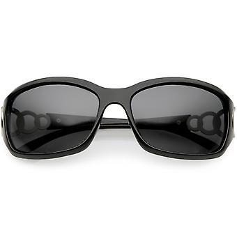 Oversize Rectangle lunettes de soleil polarisées Lens féminin 61mm