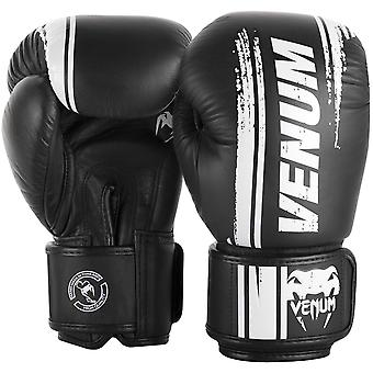 Venum Bangkok Spirit Nappa Leather Hook and Loop Sparring Boxing Gloves - Black