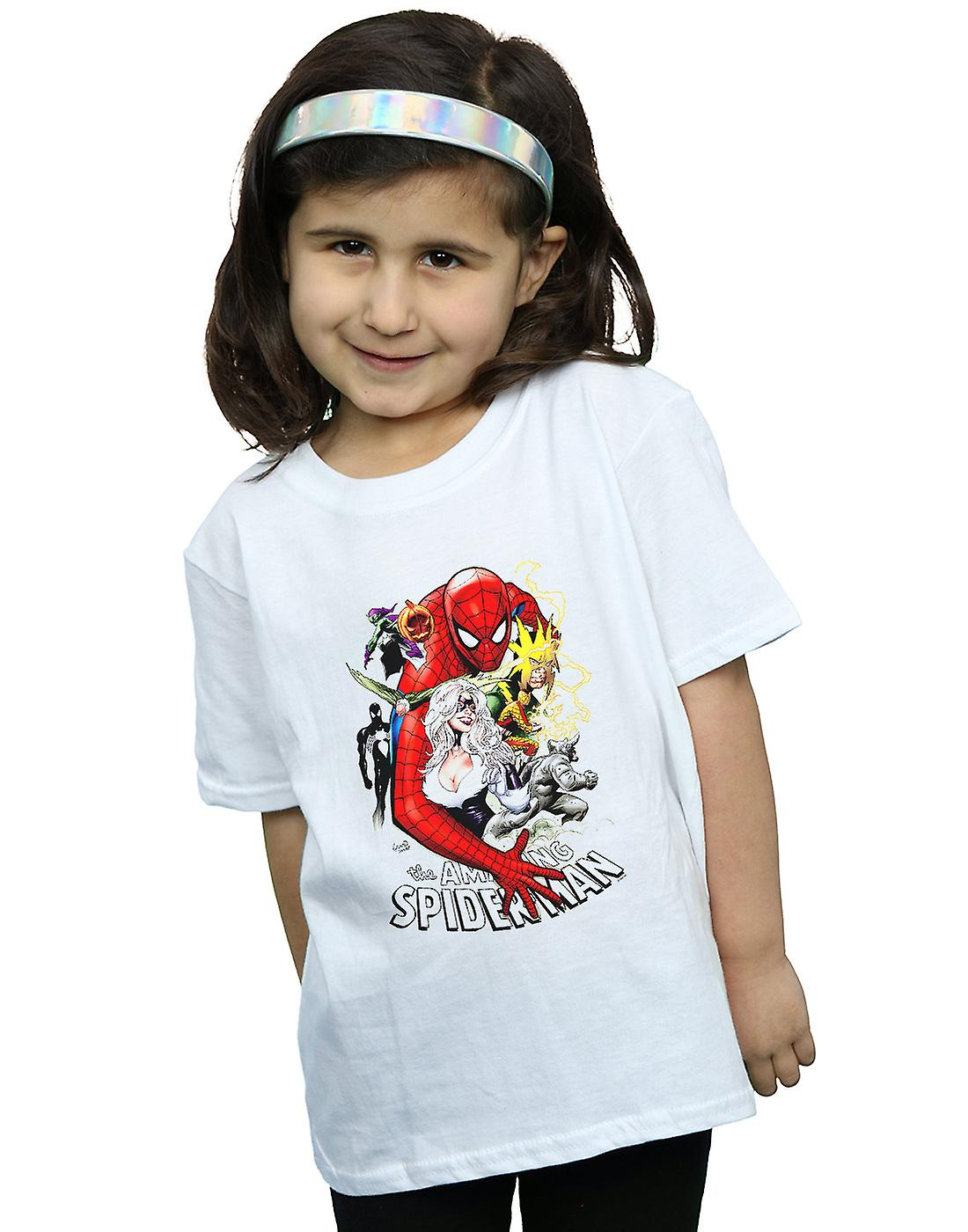 Marvel Girls Spider-Man Villains Cover T-Shirt