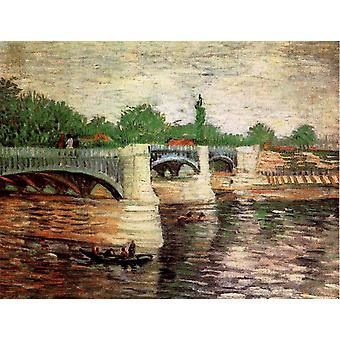 Pont de la Grande Jatte, Vincent Van Gogh, 32x 40,5 cm