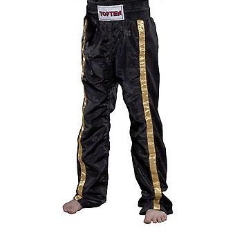 Topp tio Adult mesh kickboxing Pants svart/guld