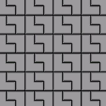 Metall mosaik rostfritt stål legering Kink-S-S-MA