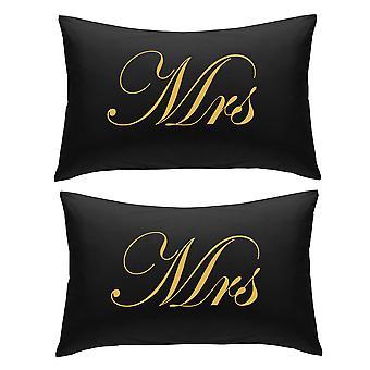 Schwarz mit Gold Frau und Frau Kissenbezüge