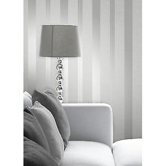 Décoration de mur papier peint argent Quartz élégant Stripe 0,52 x 10,05 m