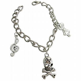 Bracciale Charm scheletro penzoloni unico & elegante bracciale
