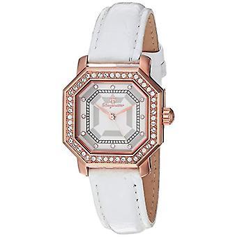 Burgmeister-naisten kvartsi kellot analoginen näyttö väri: harmaa ja valkoinen rannerengas, nahka 168-386 BM
