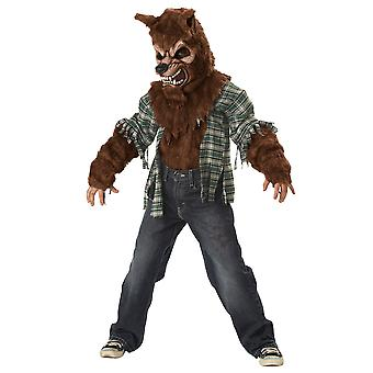 Howling At The Moon Wolf Man Werewolf Wolf Brown Boys Costume