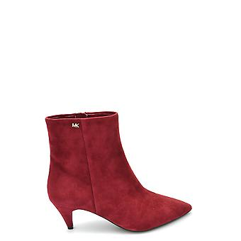 Michael Kors Ezbc063104 Women's Red Suede Ankle Boots
