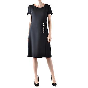 Boutique Moschino Ezbc170009 Women's Black Wool Dress