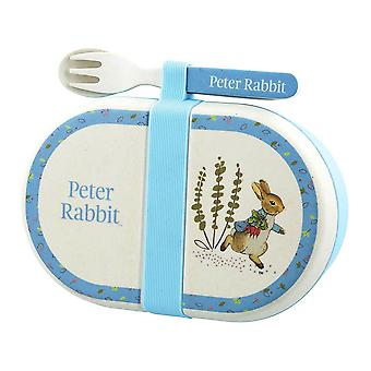 Beatrix Potter Organic Snack Box with Cutlery Set