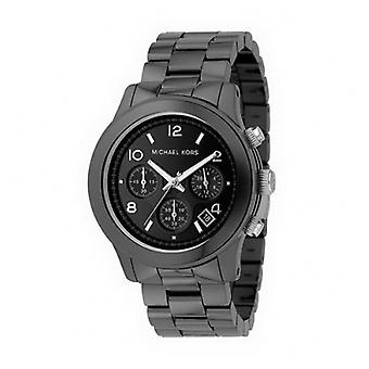 Michael Kors Men ' s Black Dial fekete kerámia Chronograph Watch Mk5164