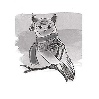 Spellbinders Winter Owl 3D Cling Stamp Set
